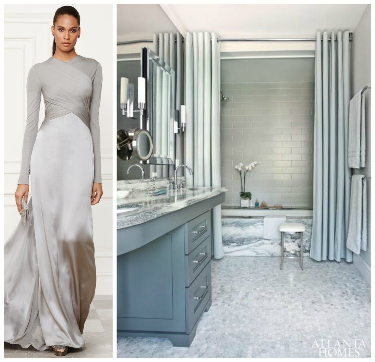 ELEGANT FASHION AND BATH DESIGN PAIRING collage 3 for Hadley Court Blog - by Lynda Quintero-Davids