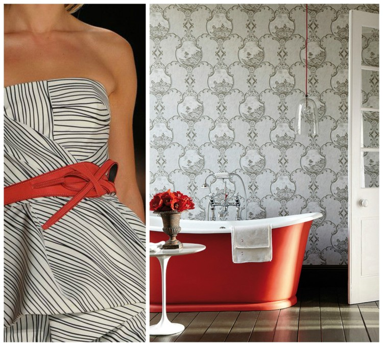 FASHION AND BATH DESIGN PAIRING collage 11a for Hadley Court Blog - by Lynda Quintero-Davids