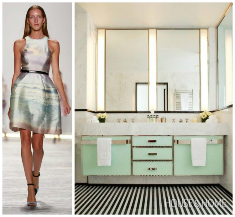 FASHION AND BATH DESIGN PAIRING collage 13 for Hadley Court Blog - by Lynda Quintero-Davids