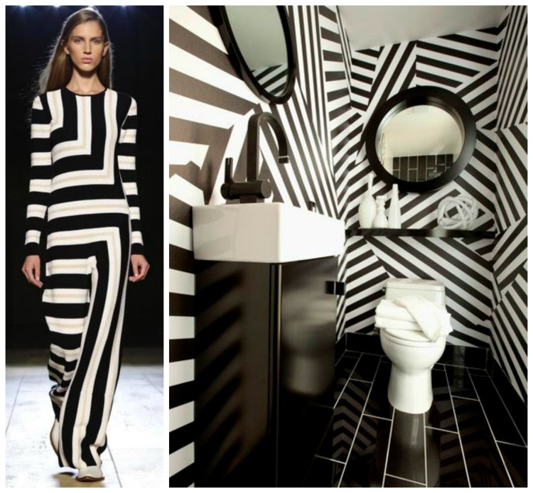 FASHION AND BATH DESIGN PAIRING collage 14 for Hadley Court Blog - by Lynda Quintero-Davids