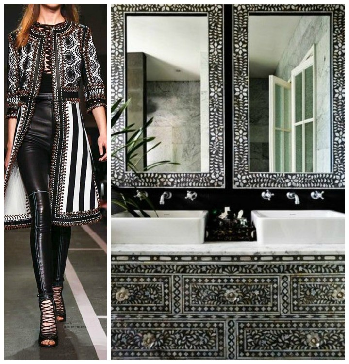 FASHION AND BATH DESIGN PAIRING collage 15 for Hadley Court Blog - by Lynda Quintero-Davids