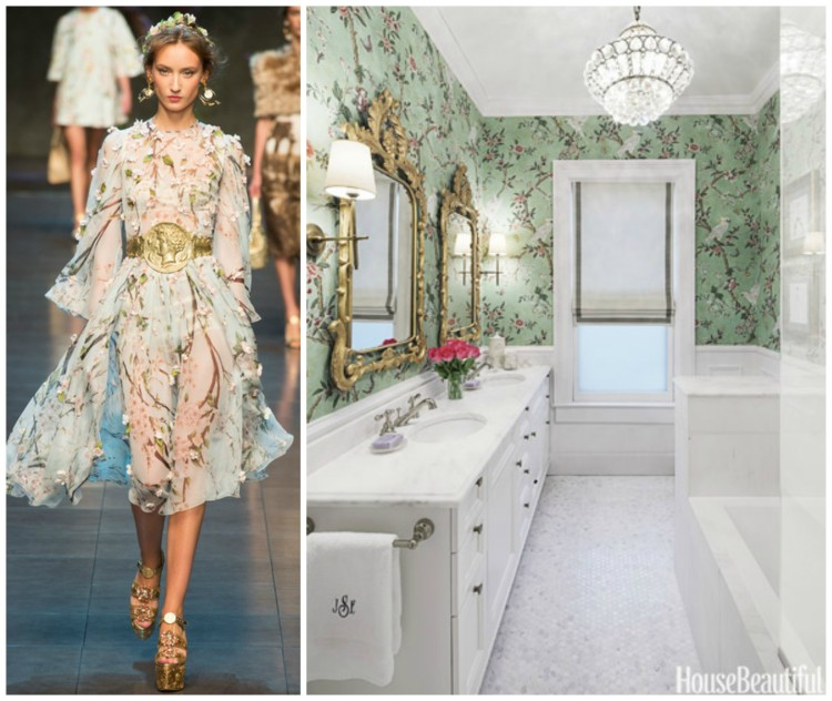 FASHION AND BATH DESIGN PAIRING collage 3 for Hadley Court Blog - by Lynda Quintero-Davids