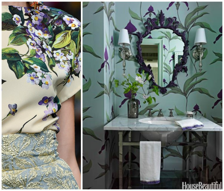 FASHION AND BATH DESIGN PAIRING collage 4 for Hadley Court Blog - by Lynda Quintero-Davids