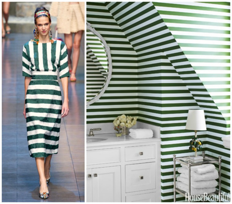 FASHION AND BATH DESIGN PAIRING collage for Hadley Court Blog - by Lynda Quintero-Davids