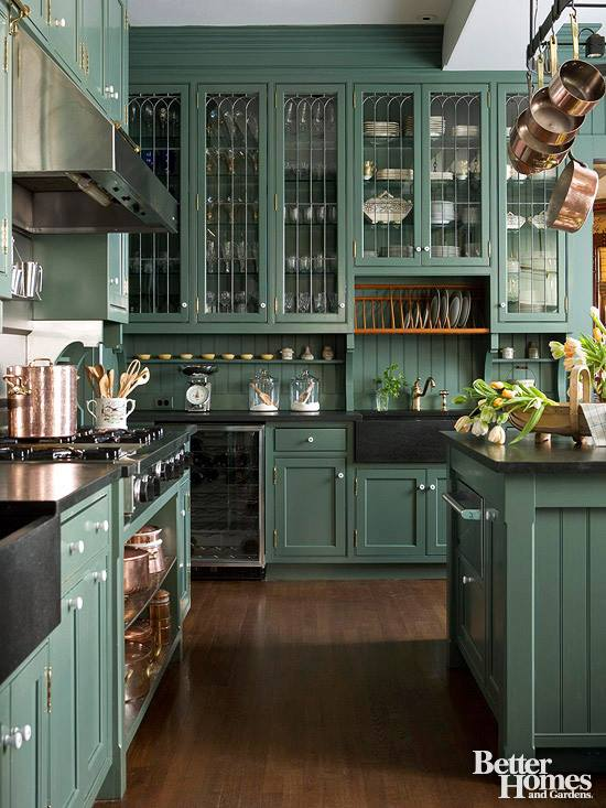 KITCHEN - 2015 Trends - Color - Painted cabs