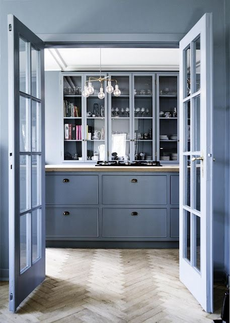 KITCHEN TRENDS 2015 - COLOR - PERIWINKLE - RUSTIC w MORDERN TOUCHES - cococozy