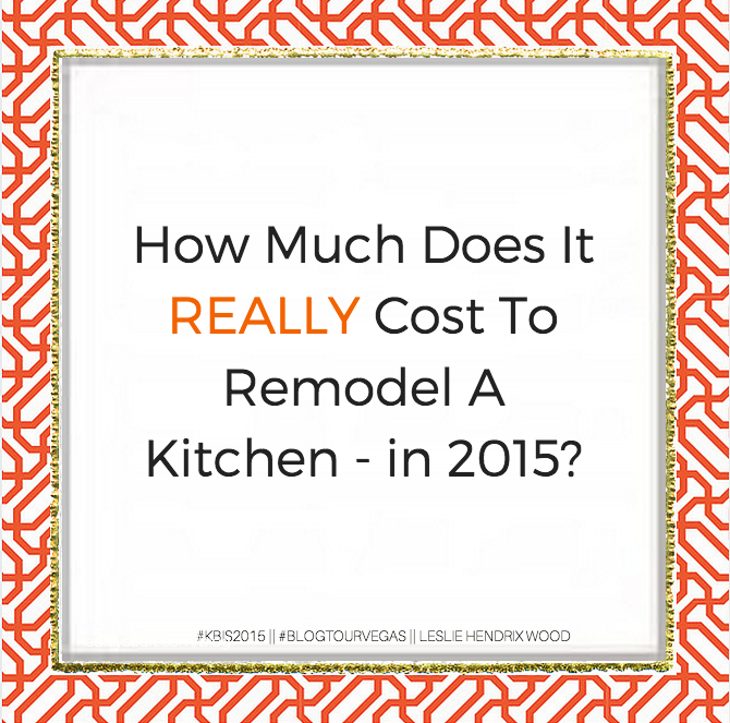 How Much Does It Cost To Remodel A Kitchen - In 2015?