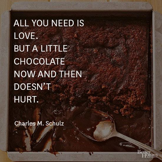 CHOCOLATE quote from Facebook
