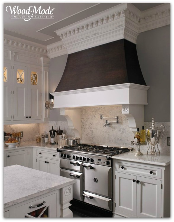 Custom wood range hood