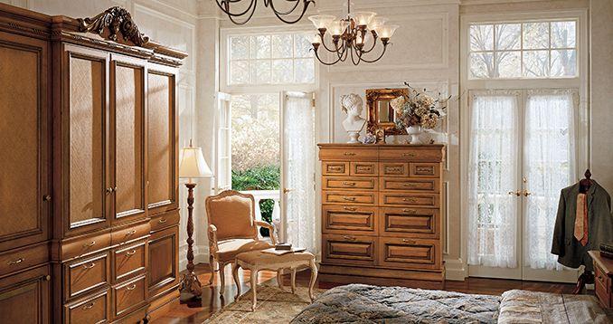 Wood-Mode bedroom storage pieces