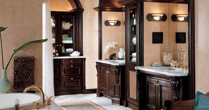 Wood-mode bathroom design