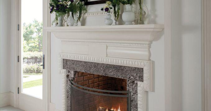 Wood-Mode modern-history fireplace