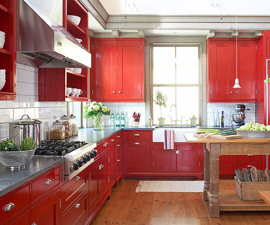 KITCHENS WITH RED - Hadley Court - Valentines day (1)