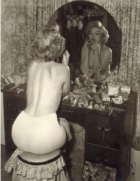 marilyn monroe on a vanity stool photo
