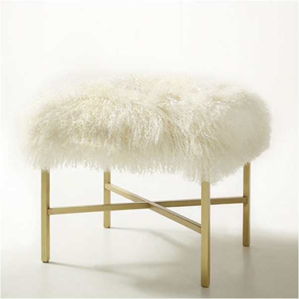 modern fluffy vanity chair