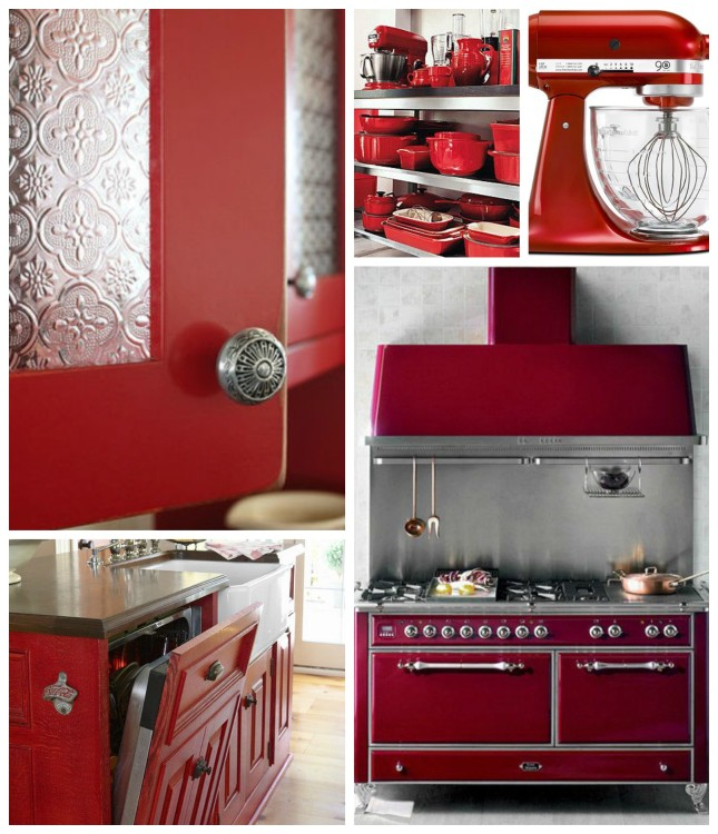 VALENTINES RED KITCHEN IDEAS - Hadley Court - Lynda Quintero-Davids Collage