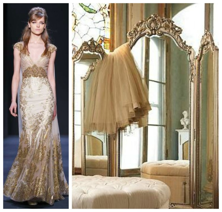 Metallic Luxury Closet and Gown