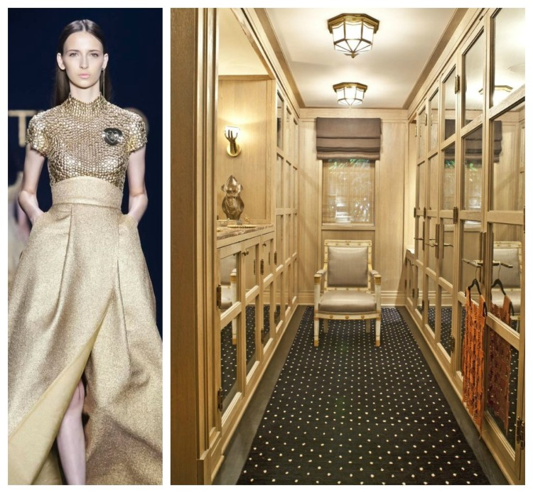 Metallic Luxury Closets