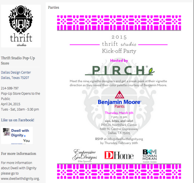Thrift Studio Kick-off Party hosted by Pirch Graphic
