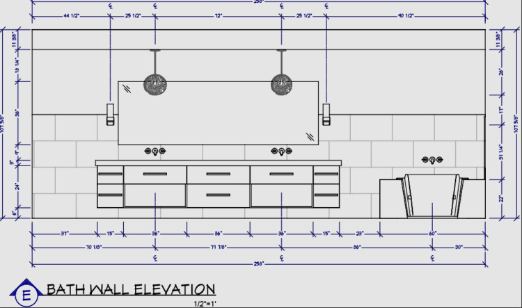 Interior designer designed blueprint