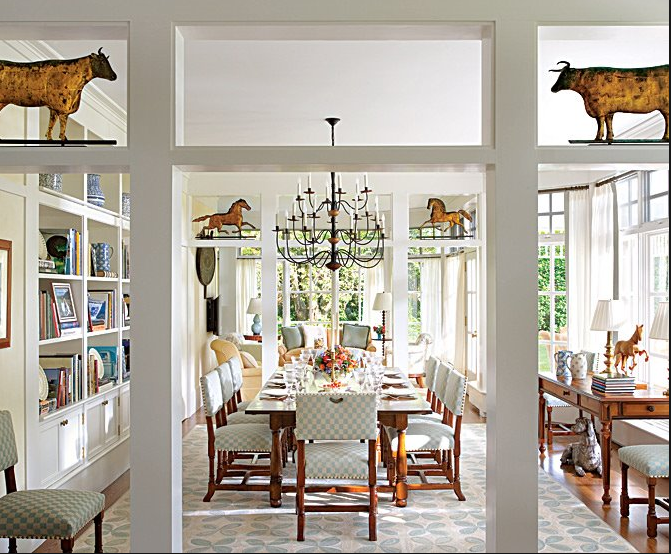 elissa cullman designed room - Sunroom Dining Room