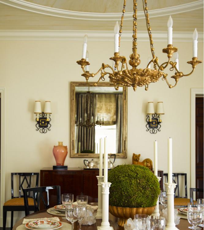 Gold vintage candlestick chandelier