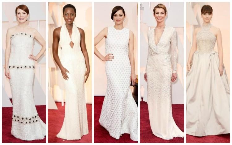 Red Carpet White Dresses