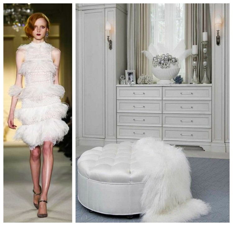 White Luxury Closet and Dress