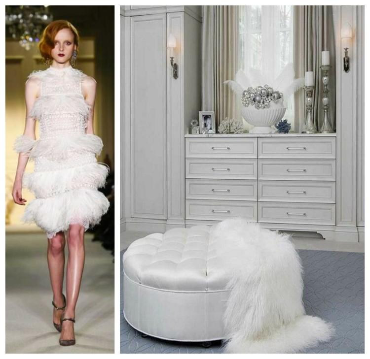 White Luxury Closet and Dress