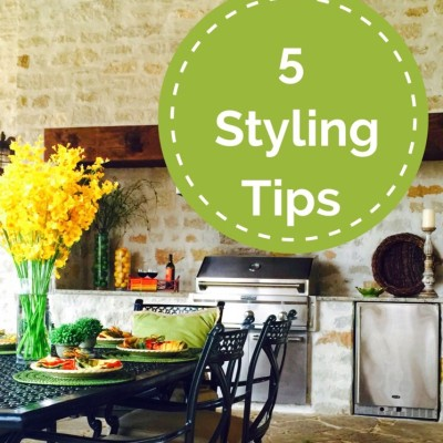Welcome Spring! My Top 5 Styling Tips For Your Outdoor Living Spaces!