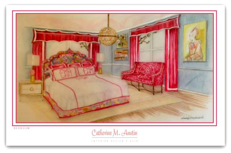 Daughters Bedroom by Cathy Austin - Catherine M. Austin Interior Design v2