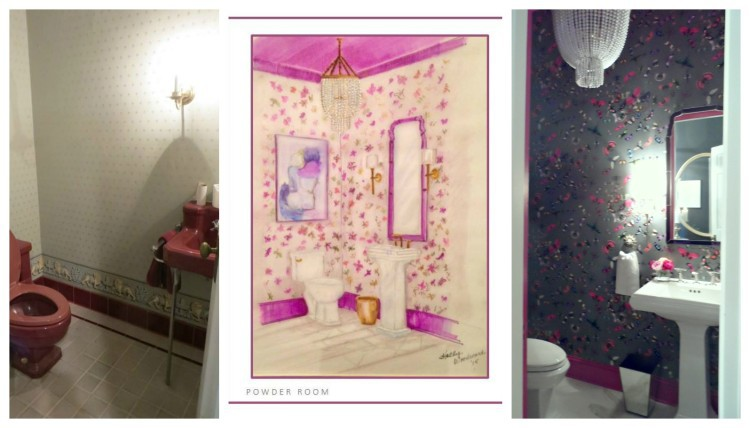 JLHPSHOWHOUSE - HPMKT - Before & After Powder Room by Margaret Fisher - photos by Lynda Quintero-Davids