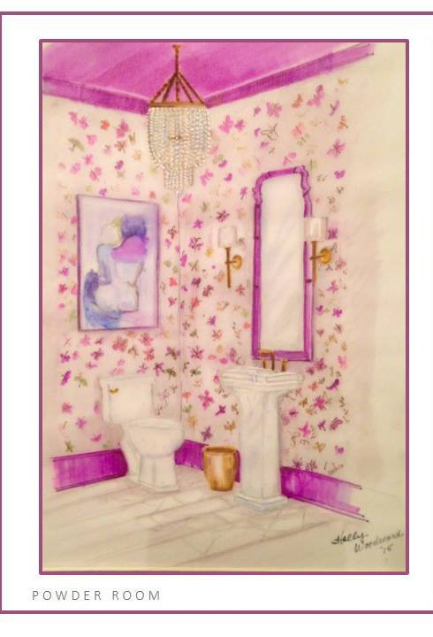 Powder Room by Margaret Fisher - Margaret Fisher Interiors