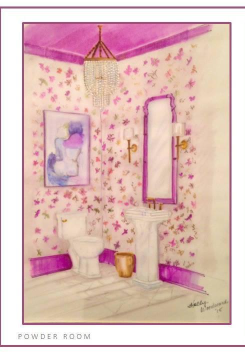 Powder Room by Margaret Fisher - Margaret Fisher Interiors