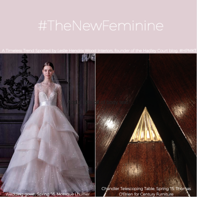 The New Feminine: The Chandler Telescoping Table by Century Furniture