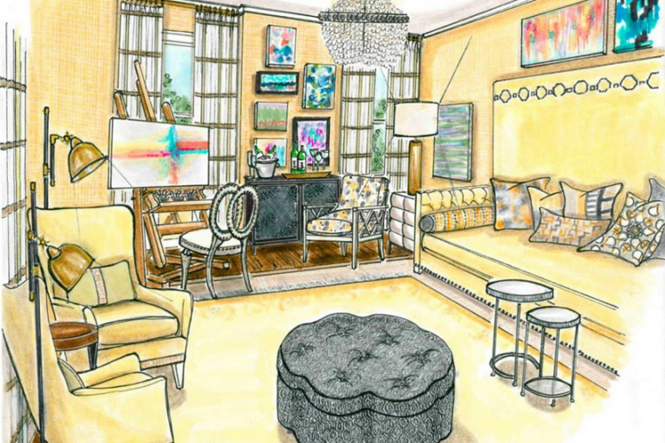 Beautiful Renderings From The Junior League of High Point Designer Showhouse!