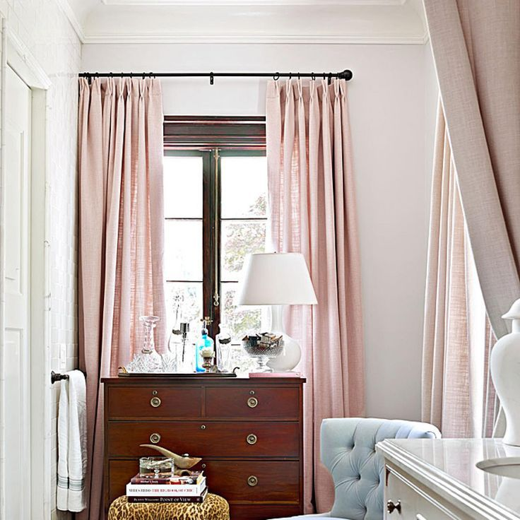 Blush Pink Windows - Traditional Home