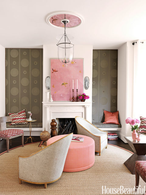 Designer Barry Dixon - Living Room - Capitol Hill Row House - House Beautiful feature