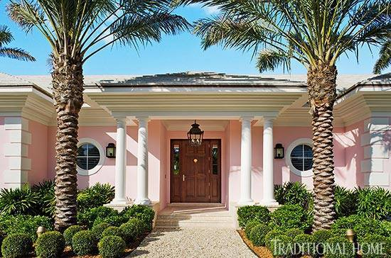 PALM BEACH PINK HOUSE - Traditional Home
