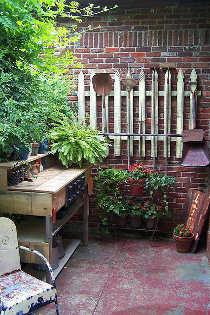 Gardening Idea Organization for small spaces photograph