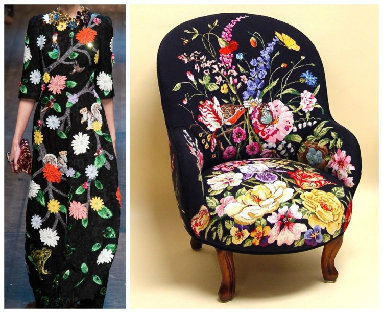 Floral fashions in black