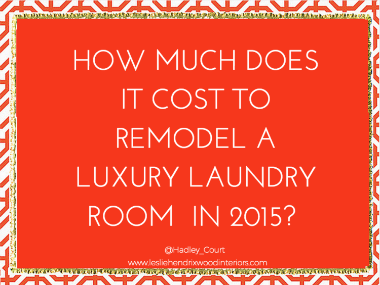 How much does it cost to remodel a luxury laundry room graphic