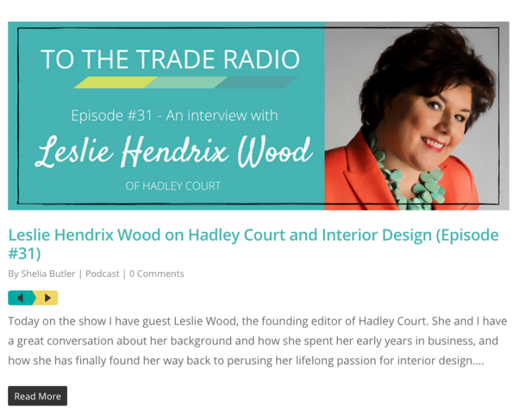 To The Trade Radio with Leslie Hendrix Wood