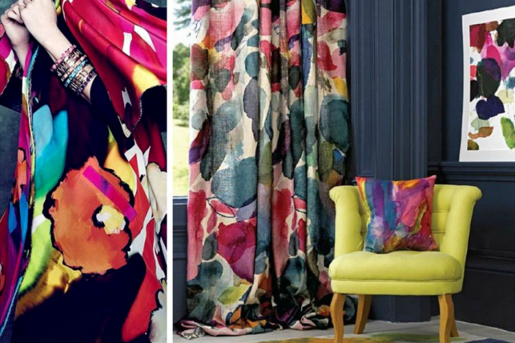 Bold Blooms In Rooms Paired With Summer's Floral Fashions