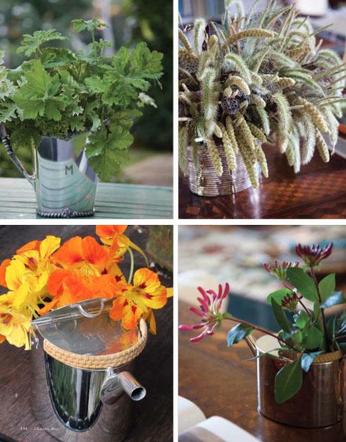 Charlotte Moss flower pots - stylish