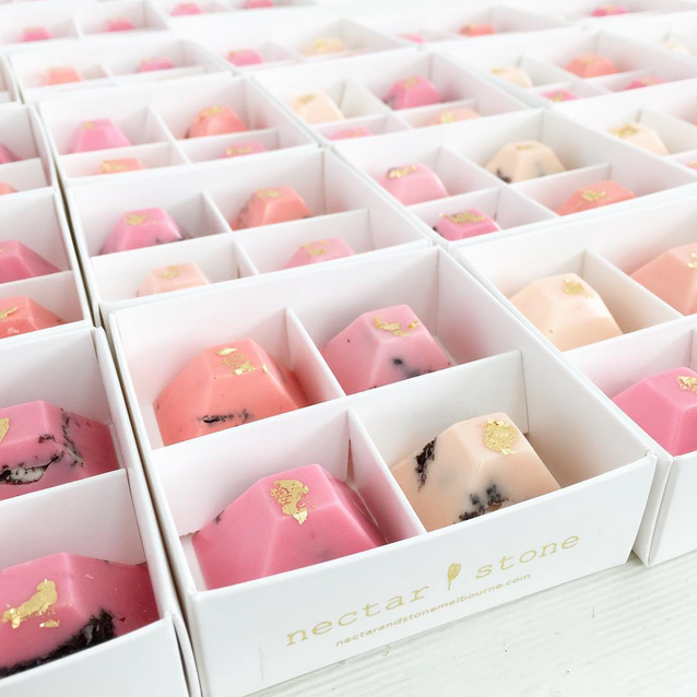artisinal gold leafed chocolates by Australia's Nectar and Stone