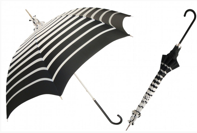 Pasotti black and white parasol