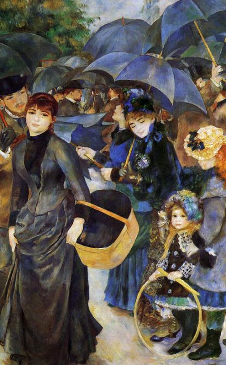 Pierre Auguste Renoir's painting, UMBRELLAS.