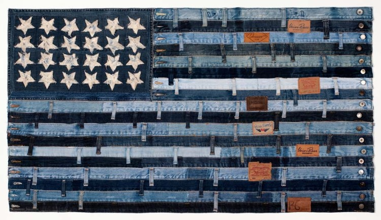 PATCHWORK DENIM AMERICAN FLAG