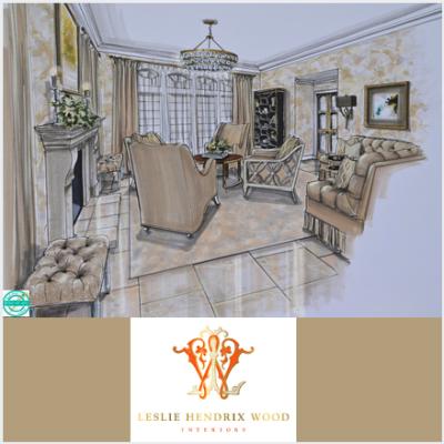 Hand Drawn Renderings: Beautiful Rooms, Beautiful Fashion